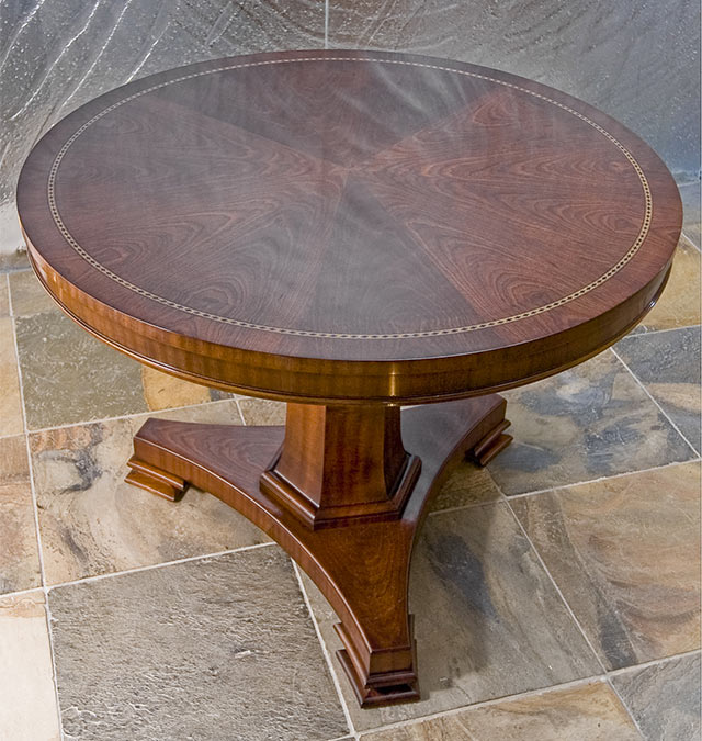 traditional veneered table reproduction