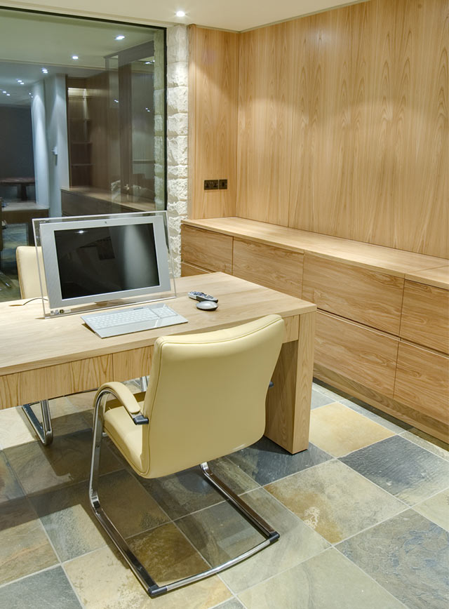 Bespoke study furniture including desk and storage