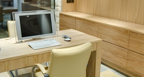bespoke home study desk and wall storage
